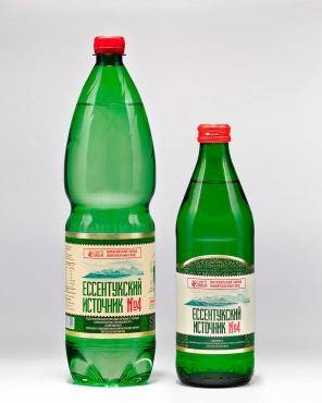 Минеральная вода газированная Ессентукский источник №4, 450 мл., стекло