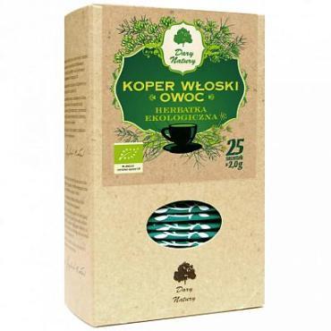 Напиток чайный фенхель, органический, травяной, 25 пакетиков Dary natury, 50 гр., картон
