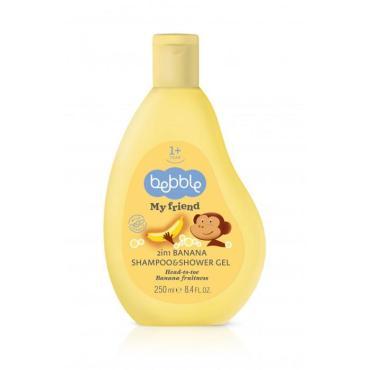 Шампунь и гель 2 в 1 с ароматом банана My Friend , Bebble, 250 мл., ПЭТ