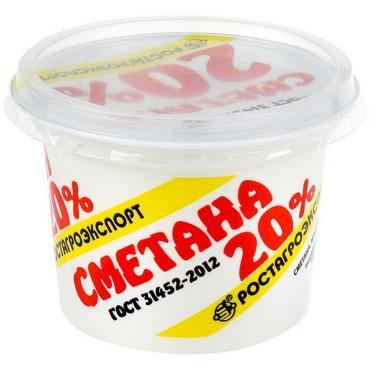 Сметана 10% РосАгро 180 гр., пластиковый стакан