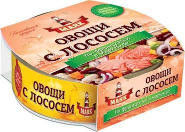Лосось По-Французски с овощами Маяк 220 гр., ж/б