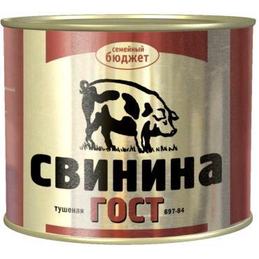Свинина Семейный бюджет ГОСТ, 338 гр., ж/б