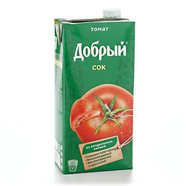 Сок томат с солью Добрый, 2 л., тетра-пак