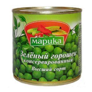 Горошек Марика зеленый, 420 мл, ж/б
