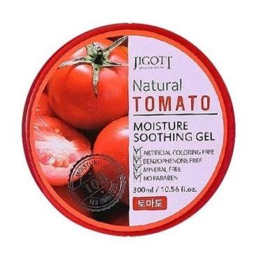 Гель увлажняющий успокаивающий с экстрактом томата Jigott Natural, 300 мл., пластиковая банка