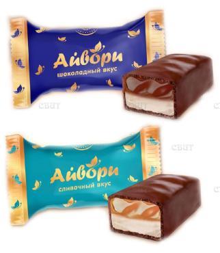 Конфеты с шоколадным вкусом Невский кондитер Айвори, 1 кг.