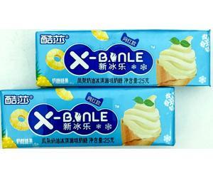 Конфеты X-Banle мороженное ананас, 25 гр., обертка фольга/бумага