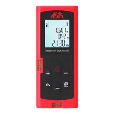 Дальномер лазерный, диапазон измерения от 0,05 м до 60 м., Ресанта ДЛ-60
