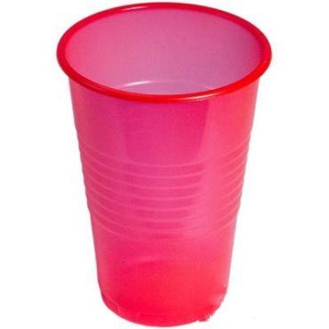 Стакан пластиковый 200 мл., D70 мм., красный