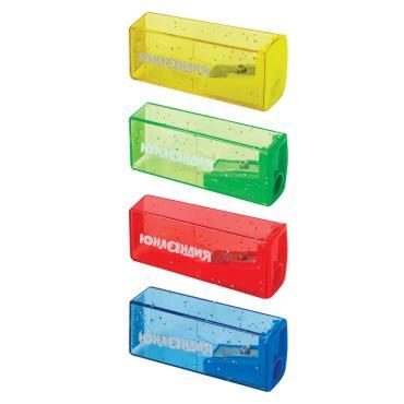 Точилка с контейнером пластиковая корпус ассорти xxxxxx Точилка Юнландия Космо