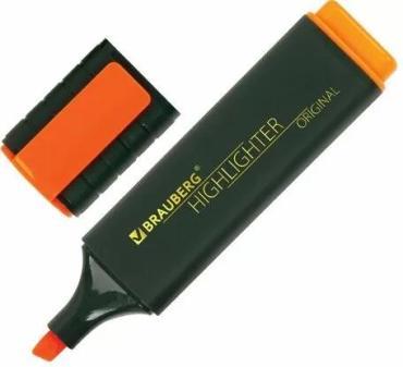 Текстовыделитель оранжевый линия 1-5 мм., Brauberg Original
