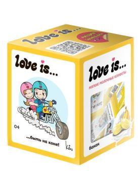 Конфета жевательная сливочная со вкусом банана, Love is, 105 гр., картон