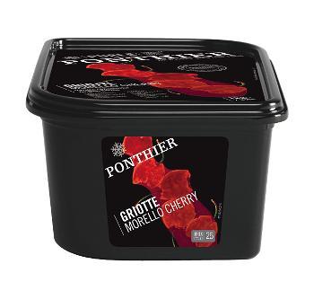 Пюре Вишня Морелло Ponthier, 1 кг., пластиковый контейнер