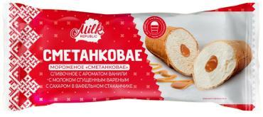 Мороженое стаканчик вафельный Белорусский пломбир Сметанковое сливочное со сгущенкой 8%, 70 гр., флоу-пак