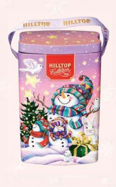 Чай Hilltop Подарочная сумочка Нарядные снеговики 125 гр