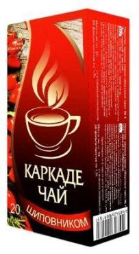 Чай каркаде с шиповником ф/п Травы Башкирии, 40 гр., картон
