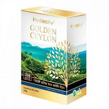 Чай, чёрный листовой Heladiv Golden Ceylon FBOP tips, 250 гр., картон