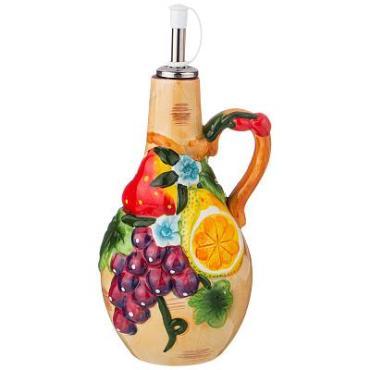 Бутылка для масла/уксуса, 500 мл., высота 23 см., Agness Фрукты