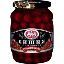 Вишня Скатерть-Самобранка в сладком сиропе с косточкой