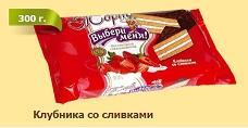 Торт клубника со сливками, Кондиреская фабрика Виктория, 300 гр., флоу-пак