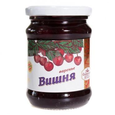 Варенье Сава сибирская ягода вишневое , 300 гр., стекло