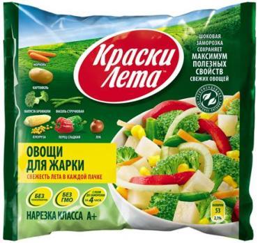Смесь овощная Краски лета для жарки, 400 гр., флоу-пак