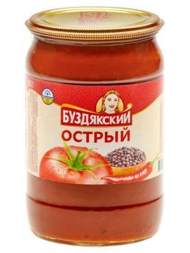 Соус Буздякский Острый, 500 гр., стекло