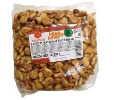 Крекер Zai Cracker, Фигурный, 250 гр., пакет