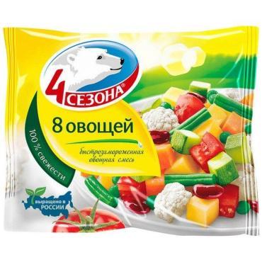 Смесь овощная 4 Сезона 8 овощей, 400 гр., флоу-пак