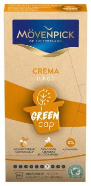 Кофе Movenpick Lungo Crema Green Cap 10 капсул, 200 гр., картон