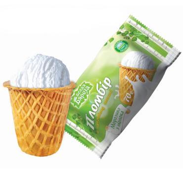 Мороженое Белая Бяроза Вафельный Сахарный стакан пломбир