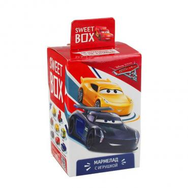 Мармелад Sweet box Тачки с игрушкой