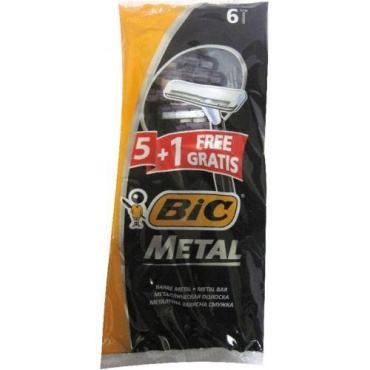 Станки для бритья Bic Metal одноразовые 5+1
