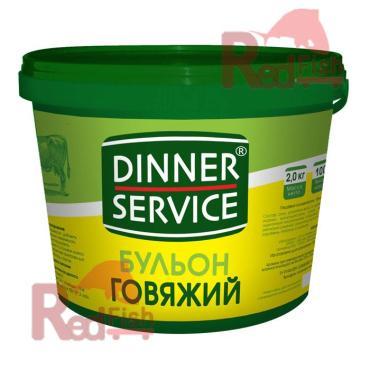 """Бульон Говяжий """"DINNER SERVICE"""" (2кг/уп)"""