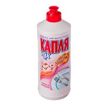 Средство для мытья посуды Капля Vox Хлопок и ромашка, 500 гр., пластиковая бутылка