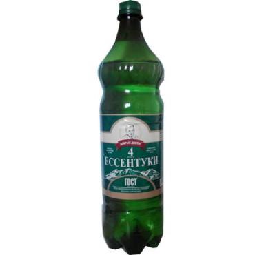 Вода питьевая газированная Ессентуки № 4 минеральная лечебно-столовая 1,5 л.