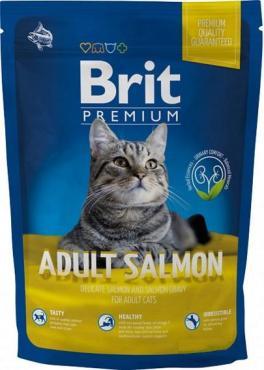 Корм Brit Premium Adult Salmon для взрослых кошек с лососем , дой-пак