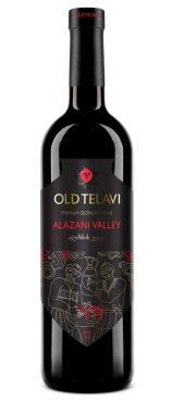 Вино Old Telavi Alazani Valley Красное полусладкое 11% Грузия