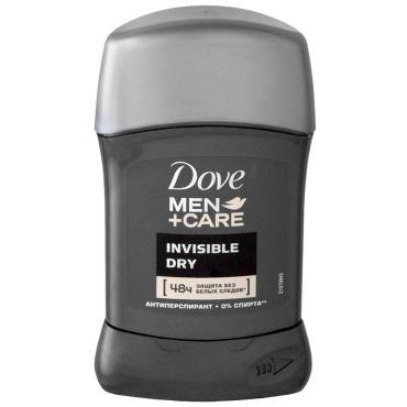 Антиперспирант Dove men+Car Invisible dry Pащита без белых следов Карандаш 50 мл