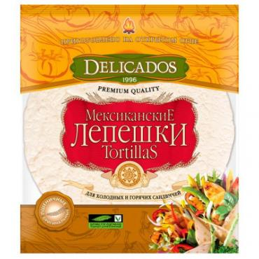 Лепешки Delicados Tortillas пшеничные оригинальные