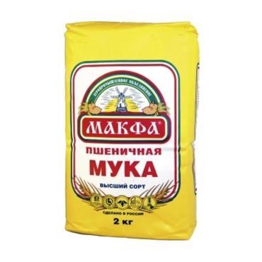 """Мука """"Макфа"""" высший сорт (2кг/м)"""