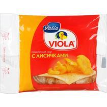 Сыр Valio & Viola плавленый с лисичками в ломтиках