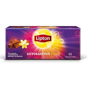 Чай Lipton winter blend с ароматом корицы и ванили черный в пакетиках
