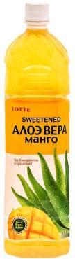 Напиток сокосодержащий Sweetened Aloe Vera безалкогольный негазированный со вкусом Манго, Lotte, 1,5 л., ПЭТ