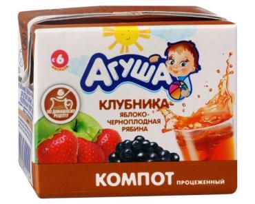 Компот Агуша Я Сам! клубника-яблоко-черноплодная рябина
