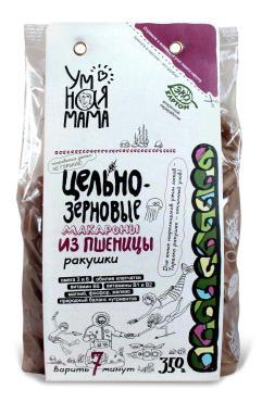 Макароны Умная Мама Ракушки пшеничные цельно-зерновые