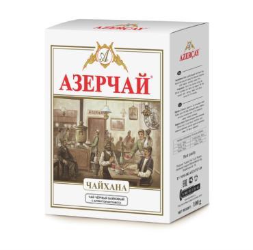 Чай Азерчай Чайхана черный листовой с бергамотом
