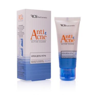 Маска-гоммаж RCS для жирной и проблемной кожи лица склонной к акне Anti Acne