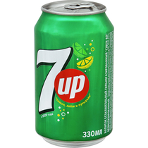 Газированный напиток 7UP лимон и лайм 0,33 л.