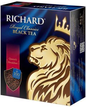 Чай черный Richard Queen's Breakfast 100 пакетов